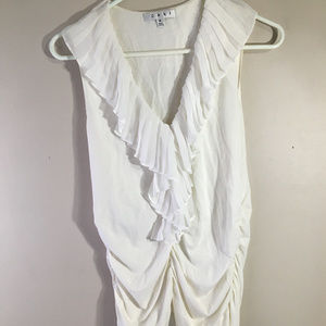 CAbi White cinched shirt